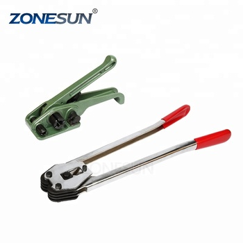 ZONESUN hot sale PET polyester straps tensioner and metal buckle sealer supply