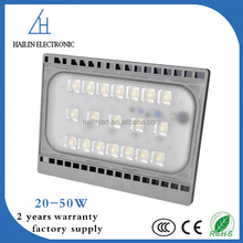 Ultra Slim Waterproof Flood Lighting Garden LED Flood Light 20W 30W 50W