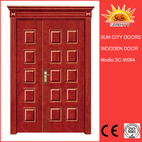 SC-W064 Mon&Son laminated bread panel design barn door hardware wood