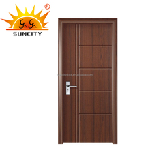 Painting PVC Door 8mm MDF material with Frame and Hardware SC-P045