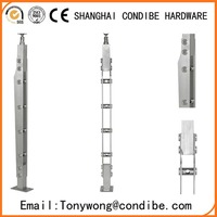 Condibe 304 stainless steel 850mm flat rod railing column/pillar