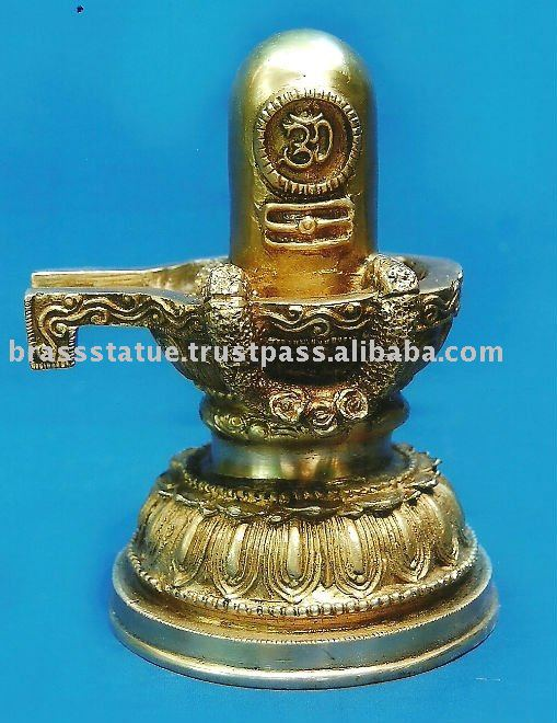 Shiv lingham brass metal sculpture