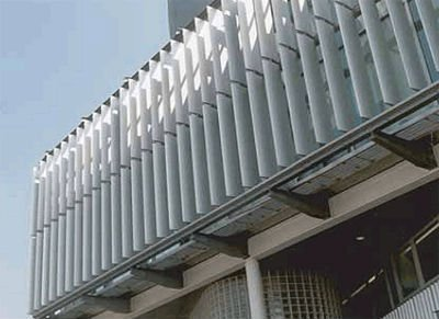 Aluminum material Sun shade louvers CE AND ISO