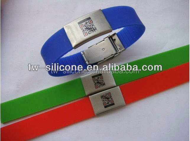 Waterproof rubber band sports wristbands runners identity bracelet