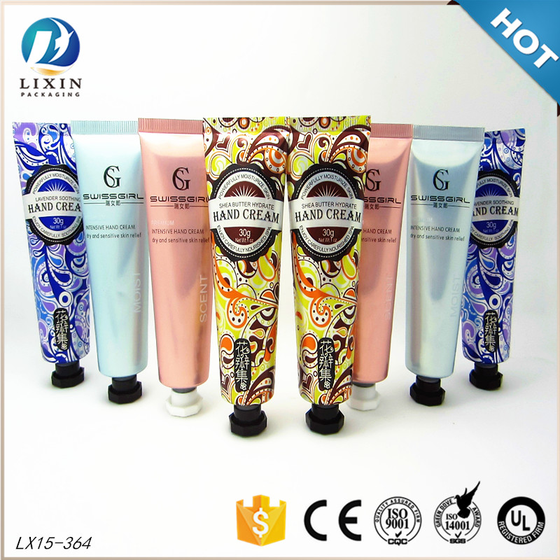 30ml custom logo hand cream lotion aluminum tube <strong>cosmetic</strong> design packaging