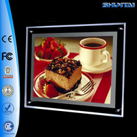 Factory prices backlit slim acrylic menu light box LED picture frame