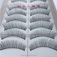 Free samples custom private label cheap sale colorful false eyelashes12mm long 10 pairs/lot upper synthetic eyelashes
