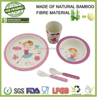pretty girl prints dinnerware,bamboo fiber kids dinner set ,bamboo dinnerware sets for children