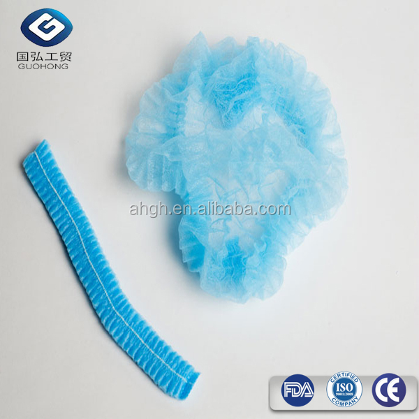 Cheap PP non woven mob/clip/strip/bouffant caps protective disposable medical cap