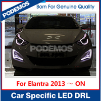 For Hyundai Elantra led headlight led fog lamp car led tuning light with light guide style IP68