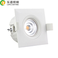 Triac Dimmable RA 92 CCT Adjustable Gyro Square IP44 9W Led COB Recessed Downlight Without Downlight Box