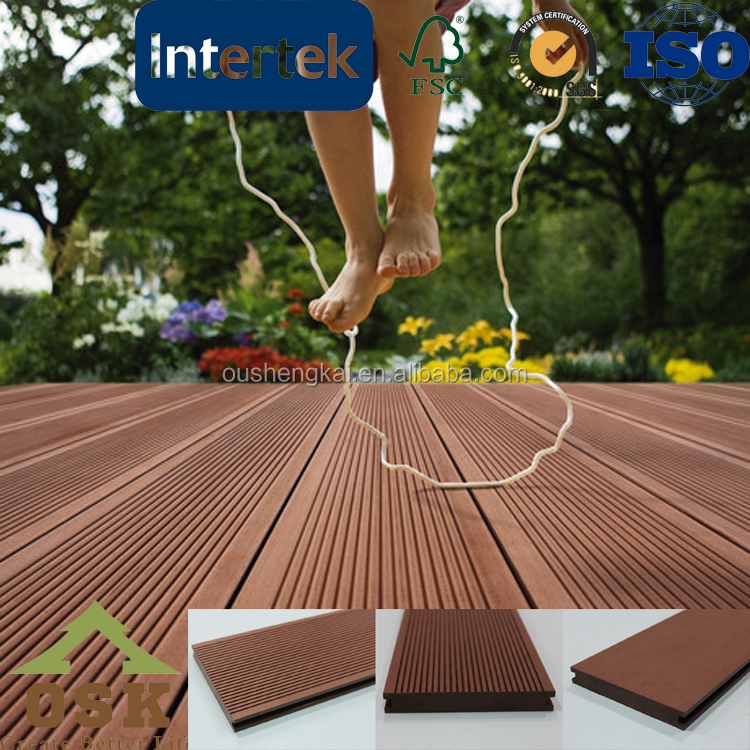 Solid wood decking outdoor engineered floor anti-UV agent anti-impact