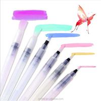 Round white nylon paint brush set water pen brush manufacture in china