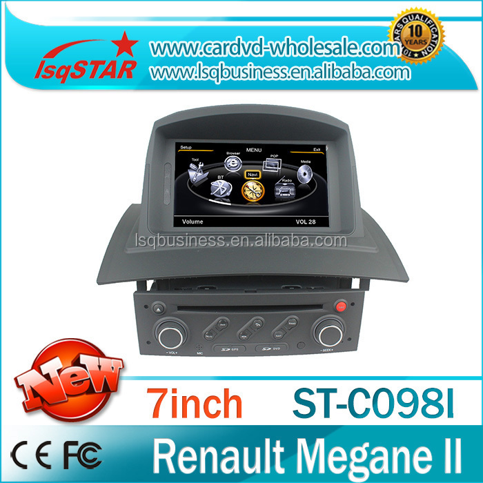 Wholesales Car DVD with Radio GPS 3G wifi Radio RDS audio Bluetooth V-20 DISC for Megane II/Megane 2