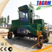 Grass and leaves compost mixing by professional compost mixer machine