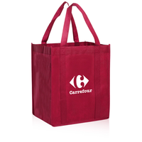 Recyclable silk screen printing non woven grocery shopping bag