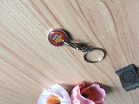 custom trolley metal coin keychain