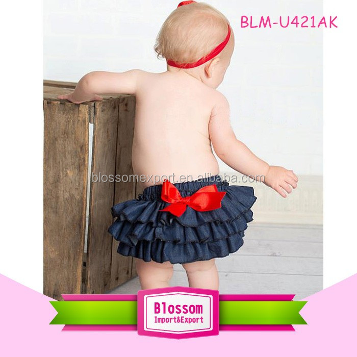 New design wholesale newborn baby clothes chiffon charming mini thanksgiving fluffy ruffle panties bloomer