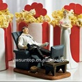 """Couch Potato"" Wedding Couple Figurine funny cake topper"
