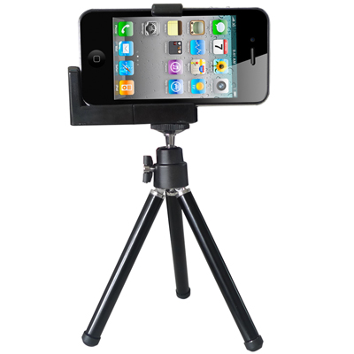 Phone /Camera Tripod /Universal Mounting Metal Holder(Black)