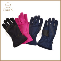 Latest style solid color softshell daily use fashion sport running lady glove, polyester, nylon