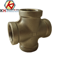 stainless steel cross with bsp npt din thread end and 304 316material