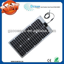 semi flexible solar panel 28W for charging boat battery best price per watt solar panels