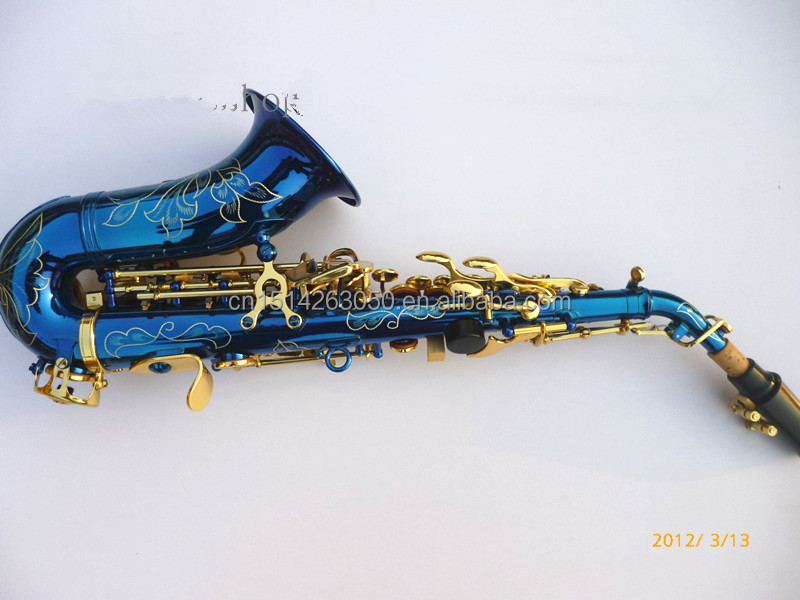 SS-BG Blue Saxophone Selmer Soprano Sax for Professional Use with Glod Lacquer Keys