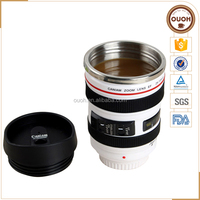 24-105 Camera Lens White Thermal Coffee Cup