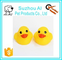 Wholesale High Quality Favorite Pet Toys Small Duck Ring Rubber Dog Toys