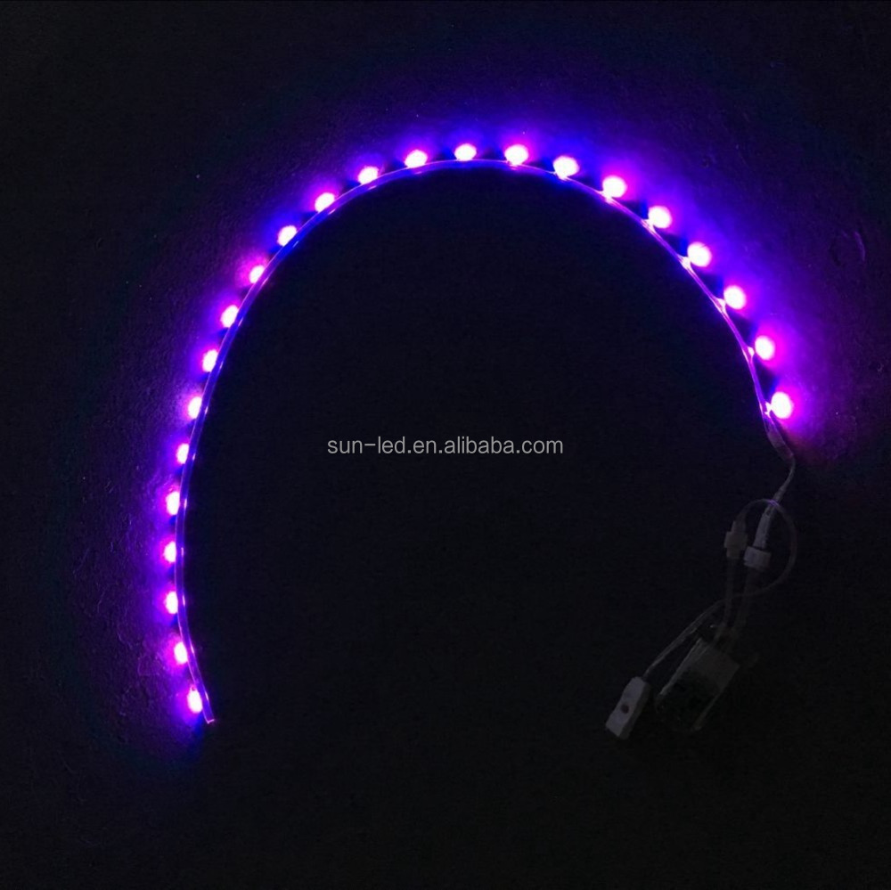 smd2835 led flexible shoe light 3v flashing colorful waterproof for kids rechargeable