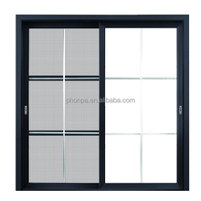 China supplier exterior aluminum sliding door with mosquito netting