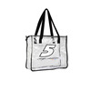 Transparent waterproof pvc promotional shopping tote bag for lady