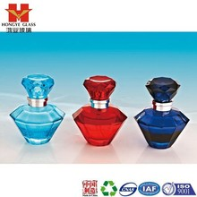 Luxury Packaging red/blue color empty cosmetic perfume fragrance glass bottle with mist spray HP121