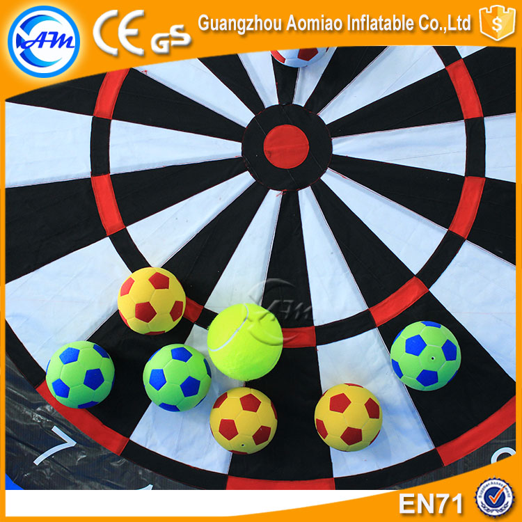 Durable inflatable soccer darts game inflatable dart score board with velcro
