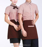 2017 OEM restaurant waiter maid waitress uniform