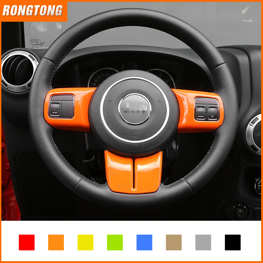7 Colors Available ABS Steering Wheel Covers Trim for Jeep Wrangler 11+