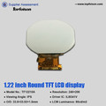 1.22 inch tft panel 204*204 round lcd screen spi interface lcd display