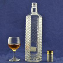 1L/1.5L Hot new decorative fancy liquor oil water huge capacity glass bottles
