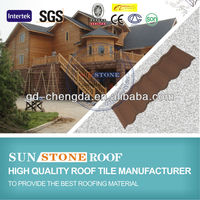 Colorful Stone Coated Steel Roofing Tiles / Concrete Roof Tile