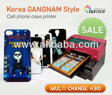 Korea GANGNAM Style phone case printer, A3 size Flatbed Printer,plastic printing machine