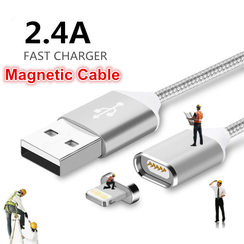 2017 Magnetic Usb Charging Cable For iPhone Cable 5 5S 6 Plus 6S 7 plus Data Magnetic USB Cable