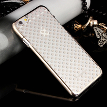 2015 new fashion phone case transparent protective cover Small dots Phone Case for iphone 5