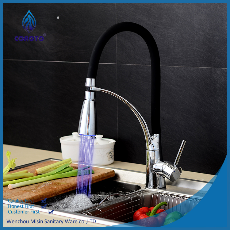 High Performance single handle led kitchen sink faucet