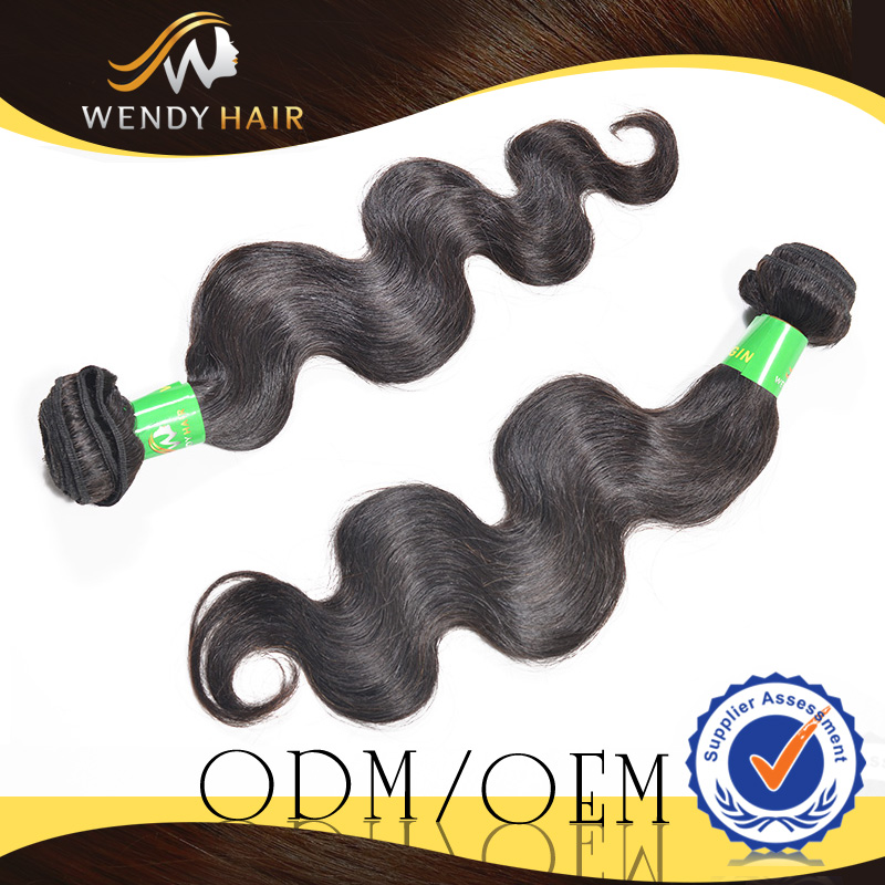 different color OEM 1B 2B natural black 100% human hair clip in hair extension