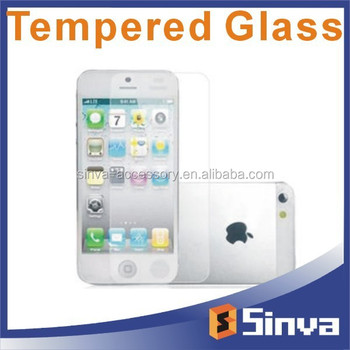 Gold mirror tempered glass screen protector for iphone 6 Wholesale price