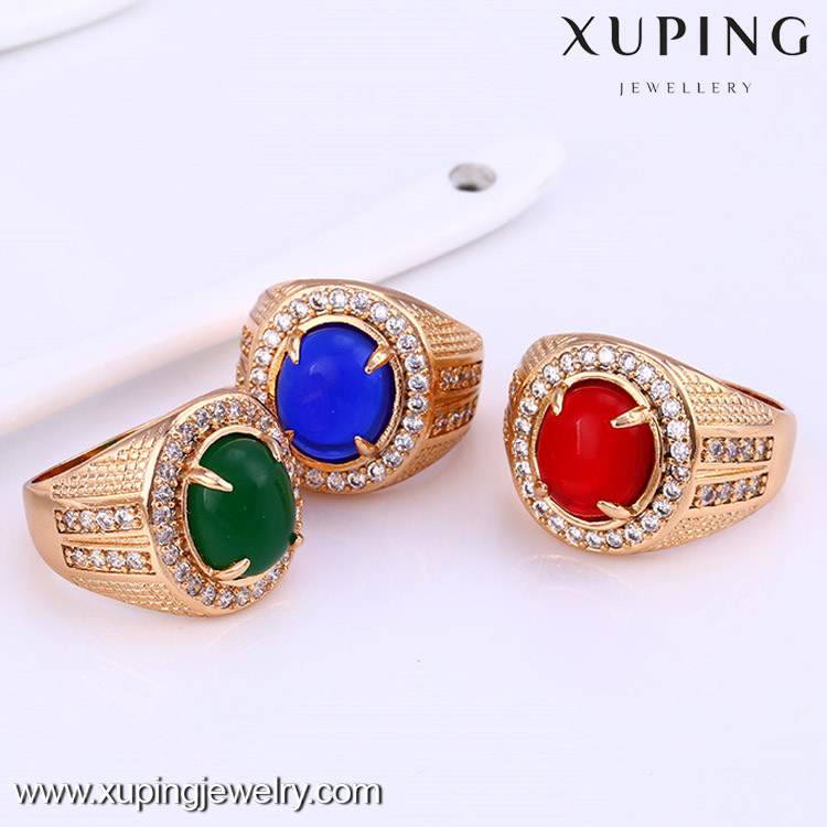 12156 Attractive price new type 18k gold color ring, big gemstone engagement ring jewelry