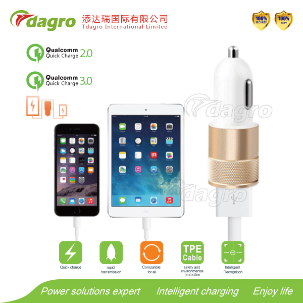 Car Charger with Bluetooth headset V4.1, safety hammer, car and phone partners