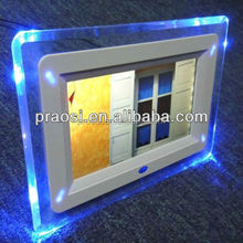hot digital photo frame 7 inch pictures slideshow for shop, store, lift, taxi, bus, hospital,supermarket