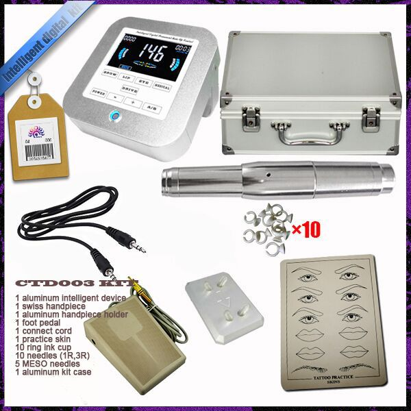 Permanent makeup eyebrow tattoo machine kit, permanent makeup sets supply